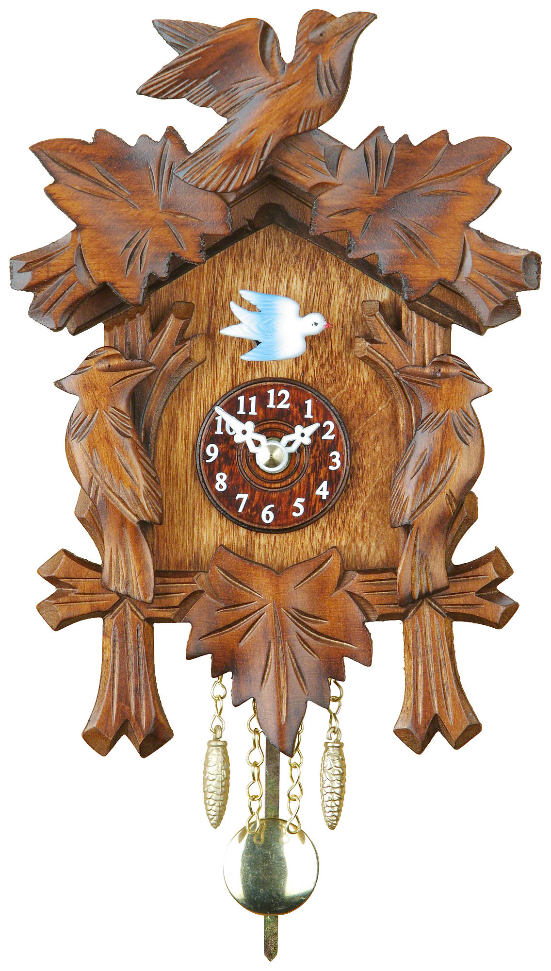 Black forest pendulum clock quartz movement 17cm by trenkle uhren 03472pqnu - Cuckoo clock pendulum ...