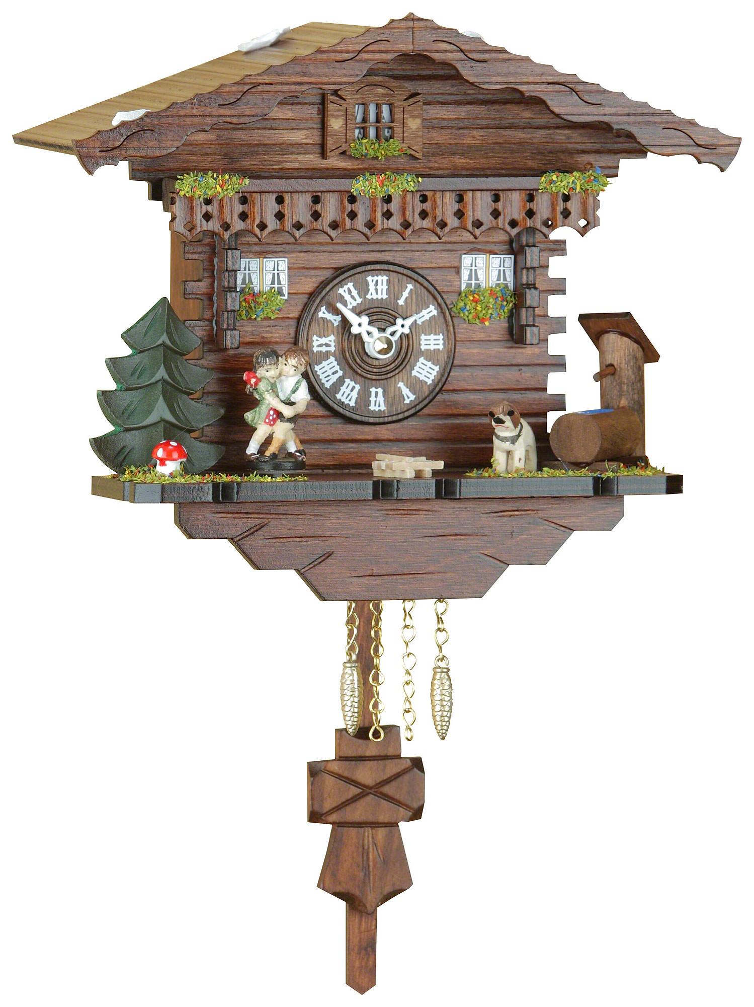 Black forest pendulum clock quartz movement 18cm by trenkle uhren 256 pq - Cuckoo clock pendulum ...