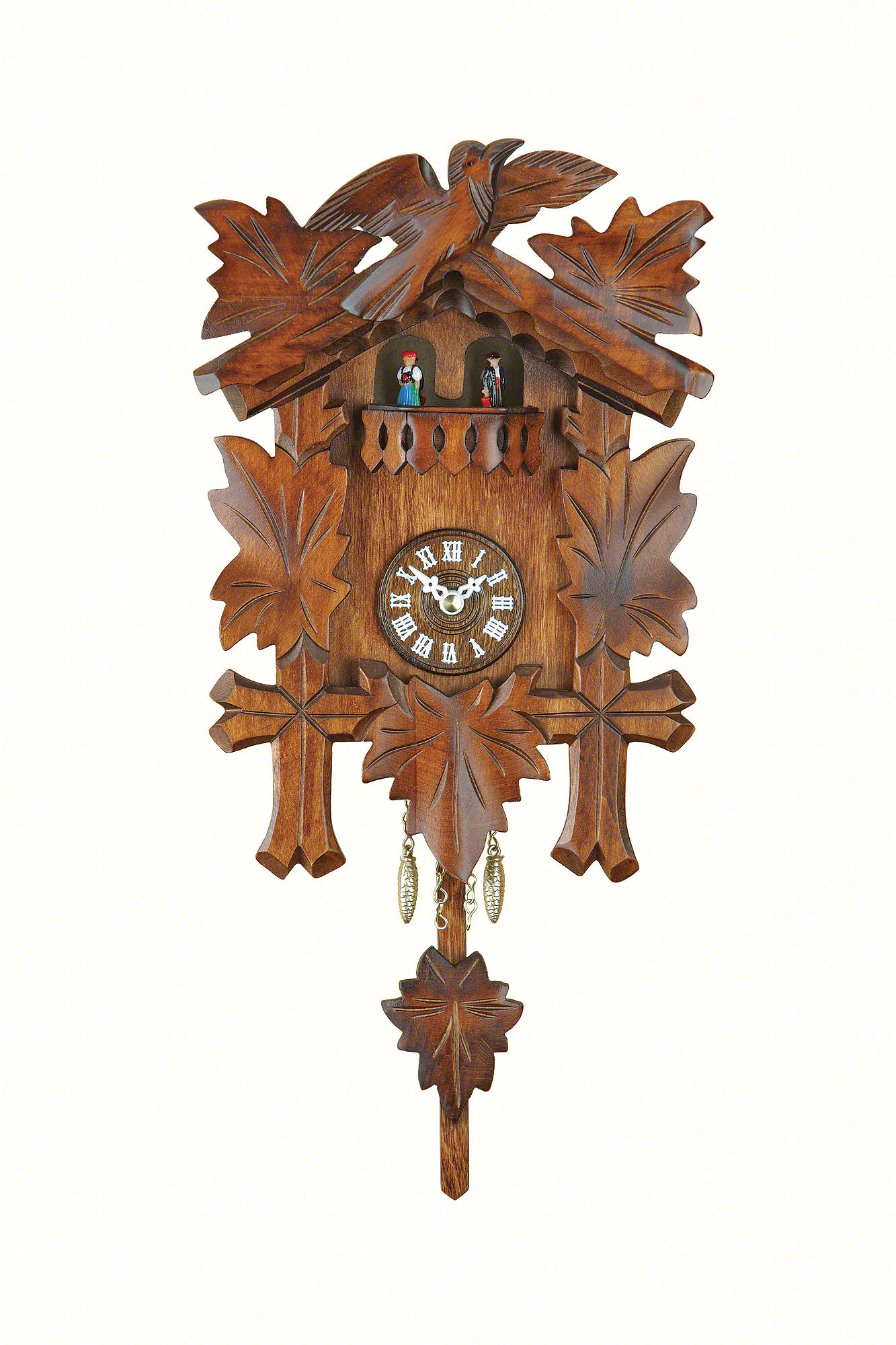 Black forest pendulum clock quartz movement 25cm by trenkle uhren 2018 pq mit kuckuckruf - Cuckoo clock pendulum ...