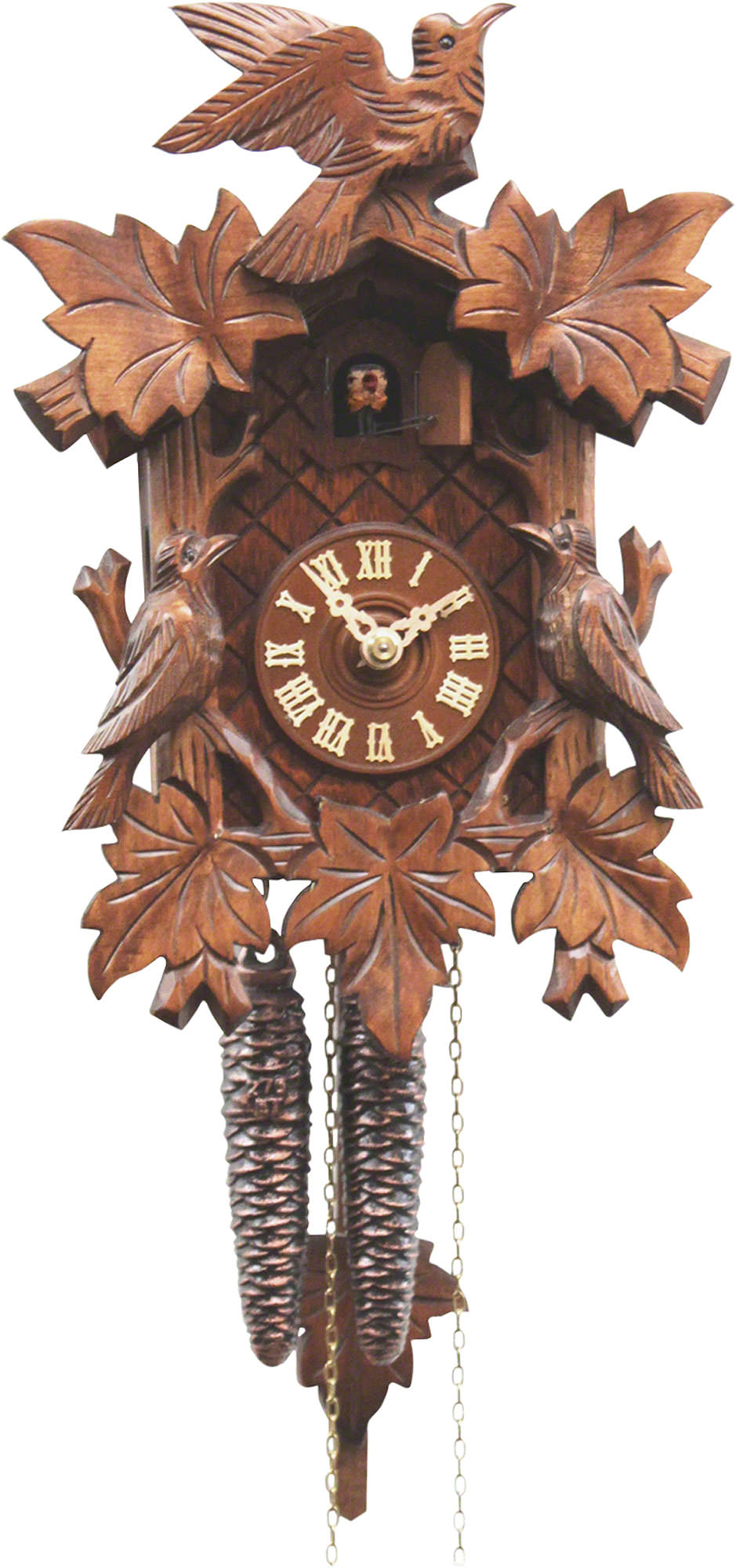cuckoo clock 1 day movement carved style 28cm by rombach. Black Bedroom Furniture Sets. Home Design Ideas