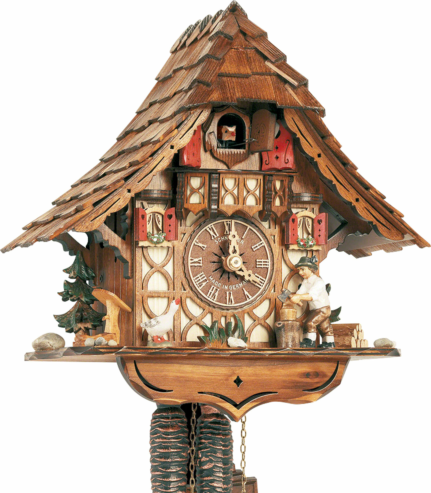 Cuckoo Clock 1 Day Movement Chalet Style 27cm By Anton