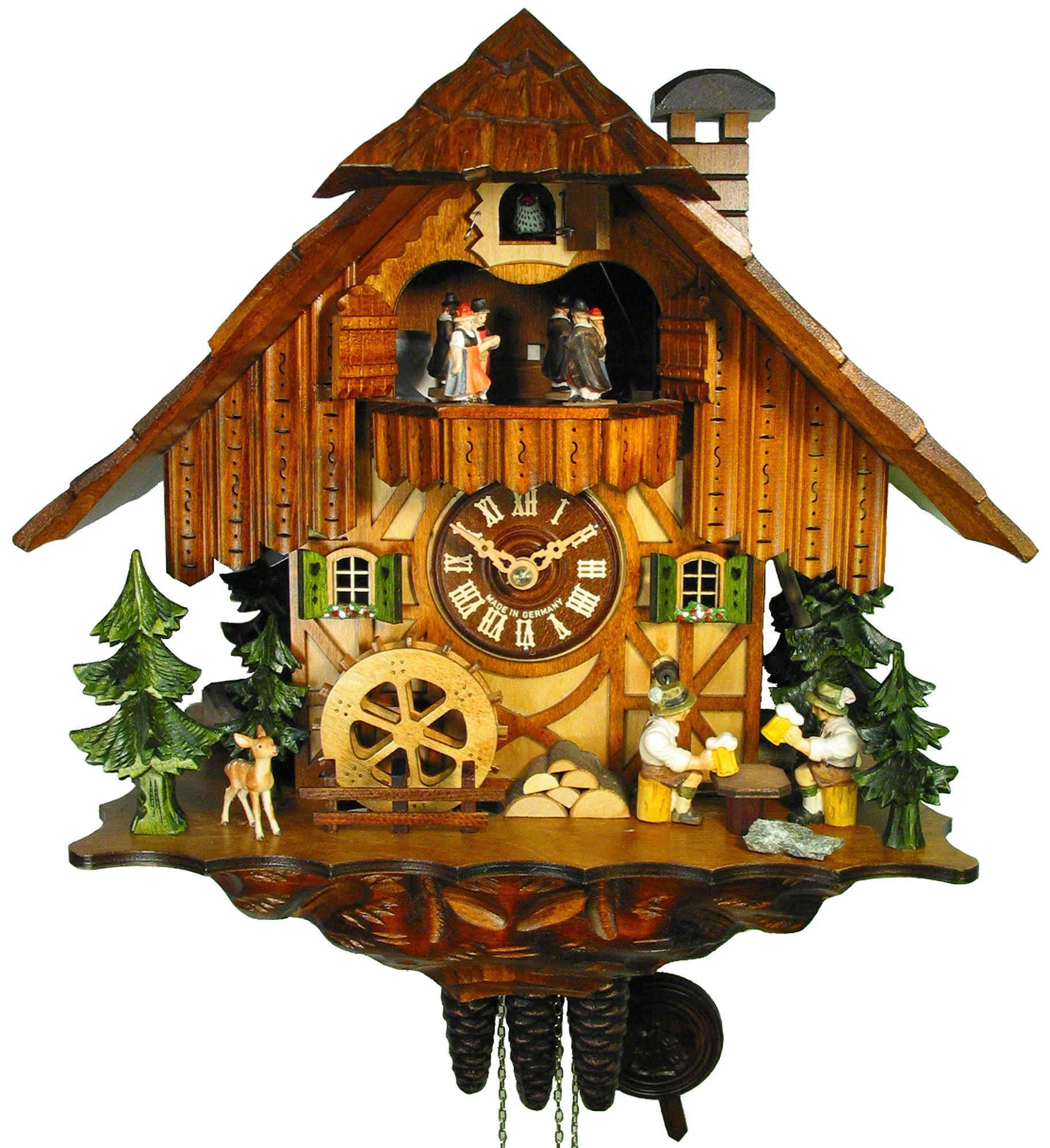 Cuckoo clock 1 day movement chalet style 35cm by august How to make a cuckoo clock