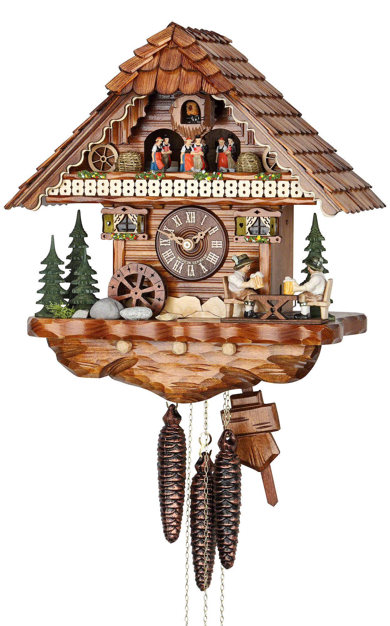 Cuckoo clock 1 day movement chalet style 36cm by hekas How to make a cuckoo clock