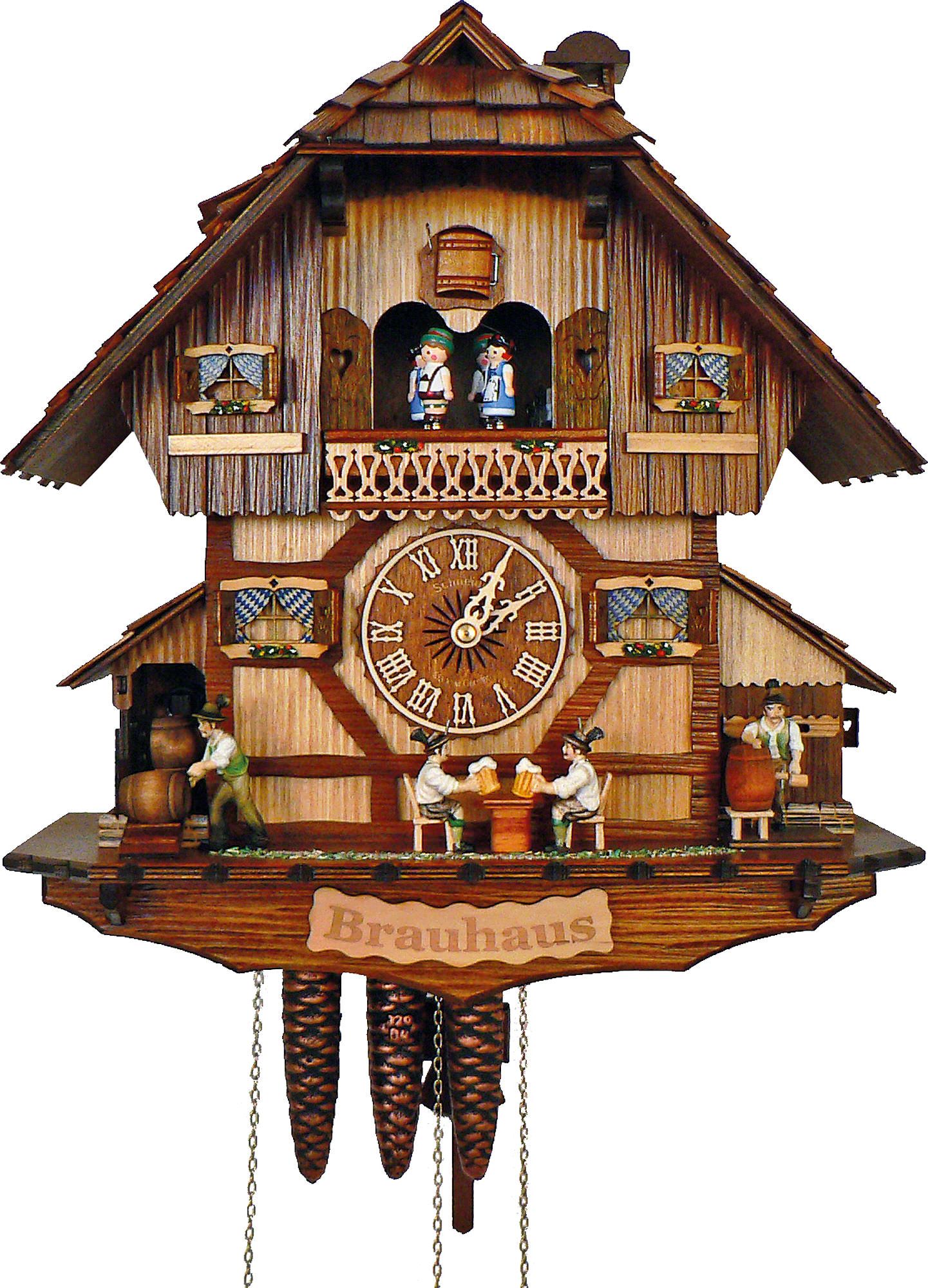 Cuckoo Clock 1 Day Movement Chalet Style 41cm By Anton