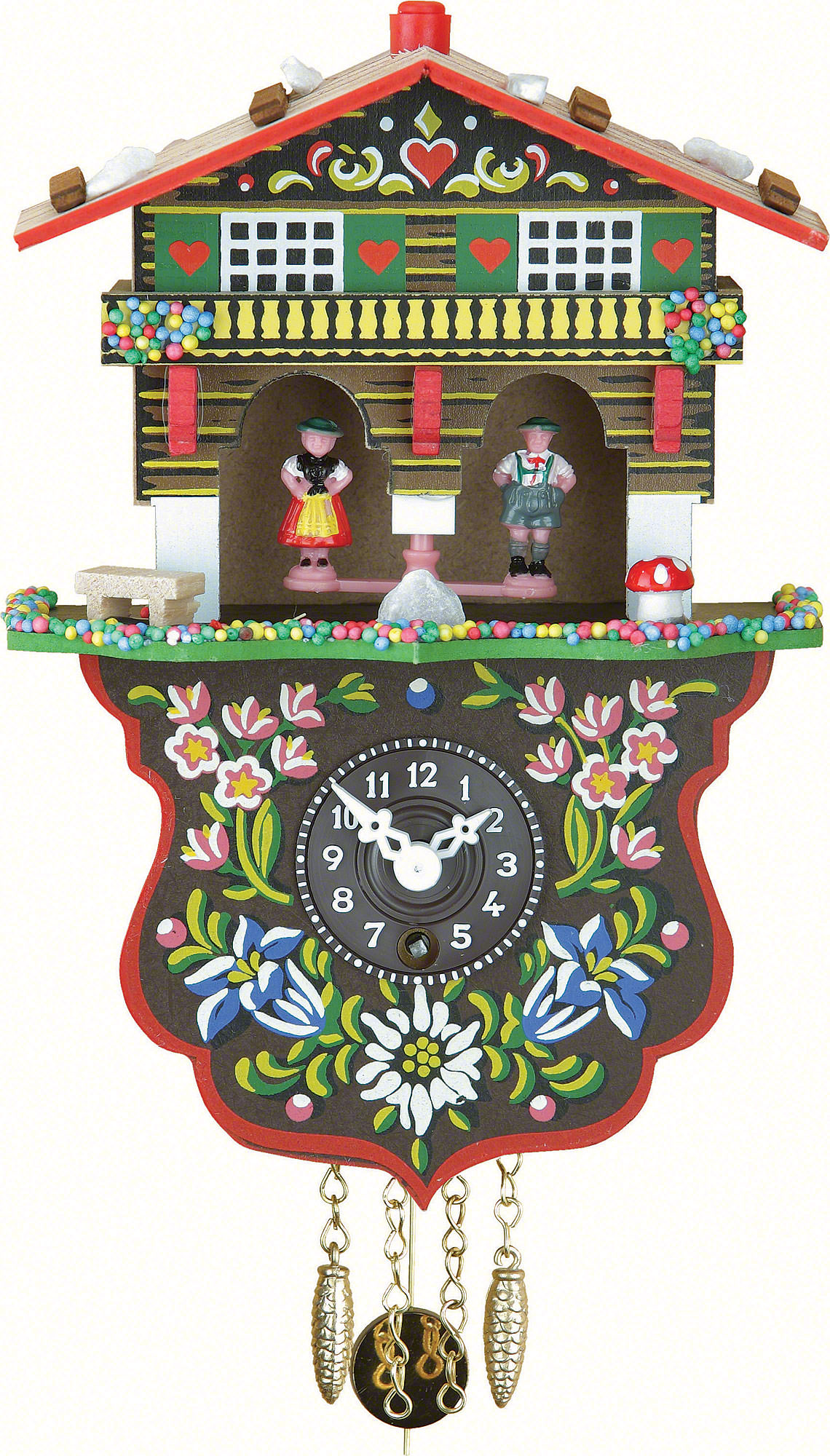 Cuckoo clock 1 day spring movement black forest pendulum clock style 19cm by trenkle uhren 808 p - Cuckoo clock pendulum ...