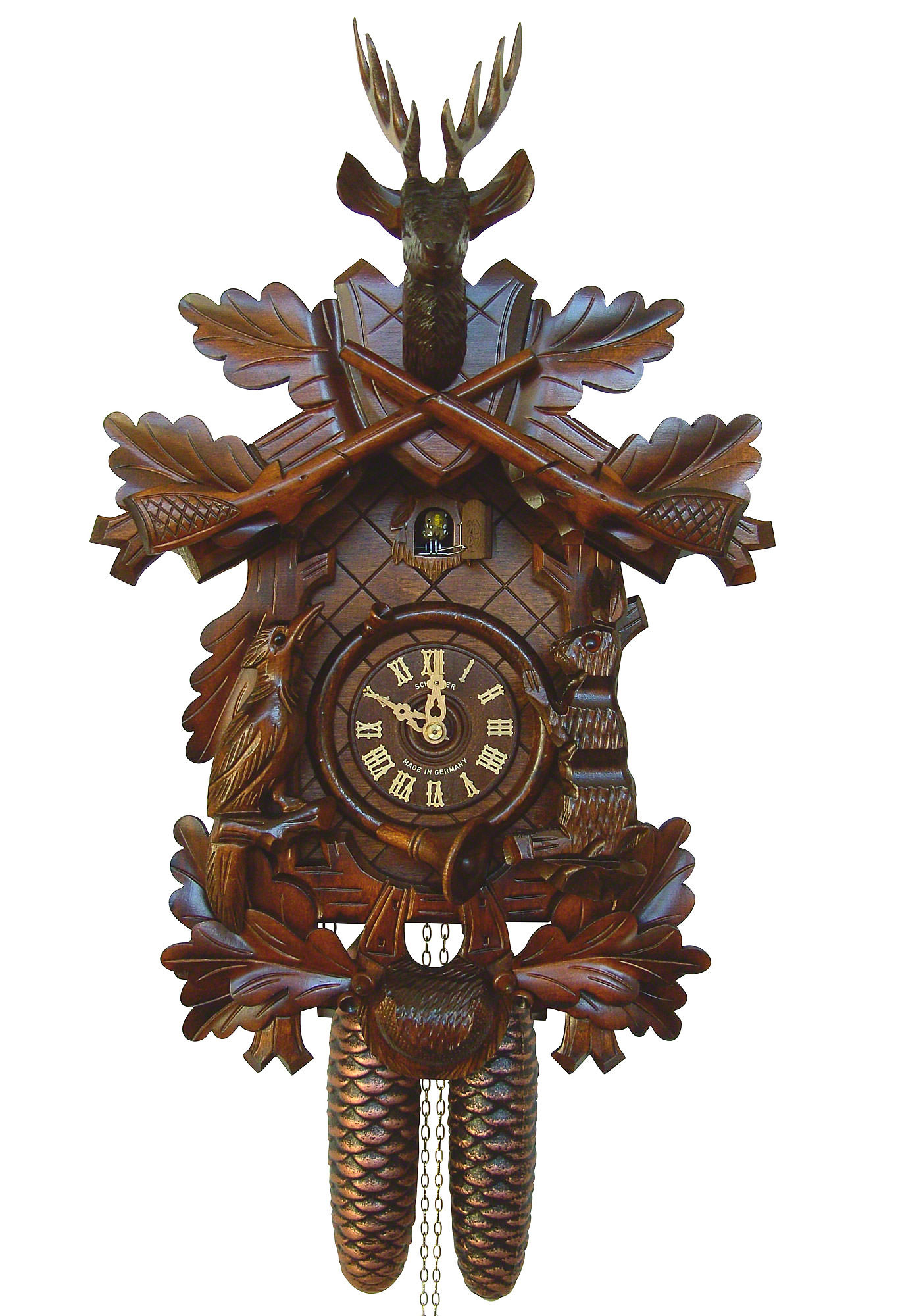 Cuckoo clock 8 day movement carved style 40cm by anton How to make a cuckoo clock