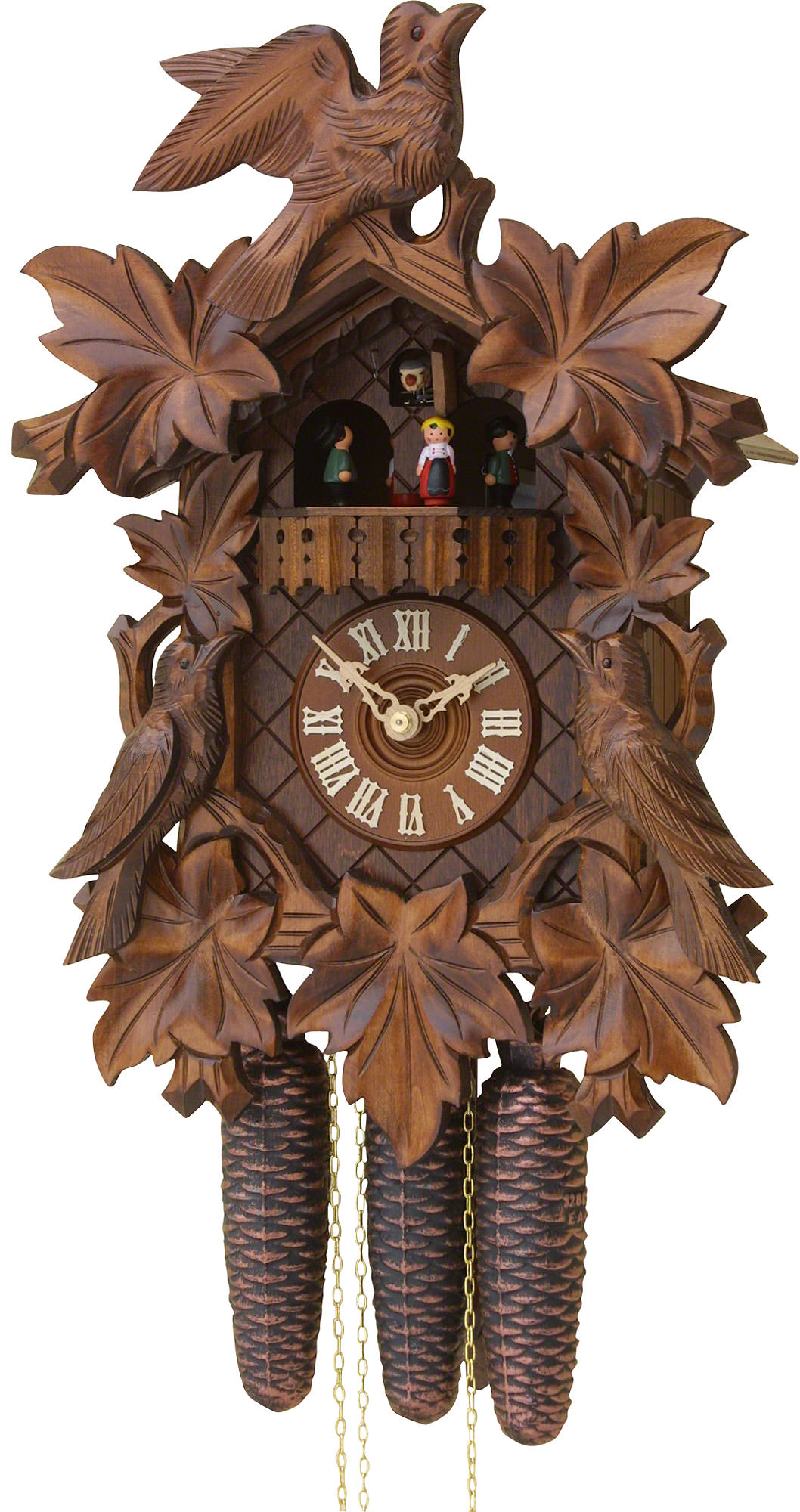 Cuckoo clock 8 day movement carved style 40cm by rombach How to make a cuckoo clock
