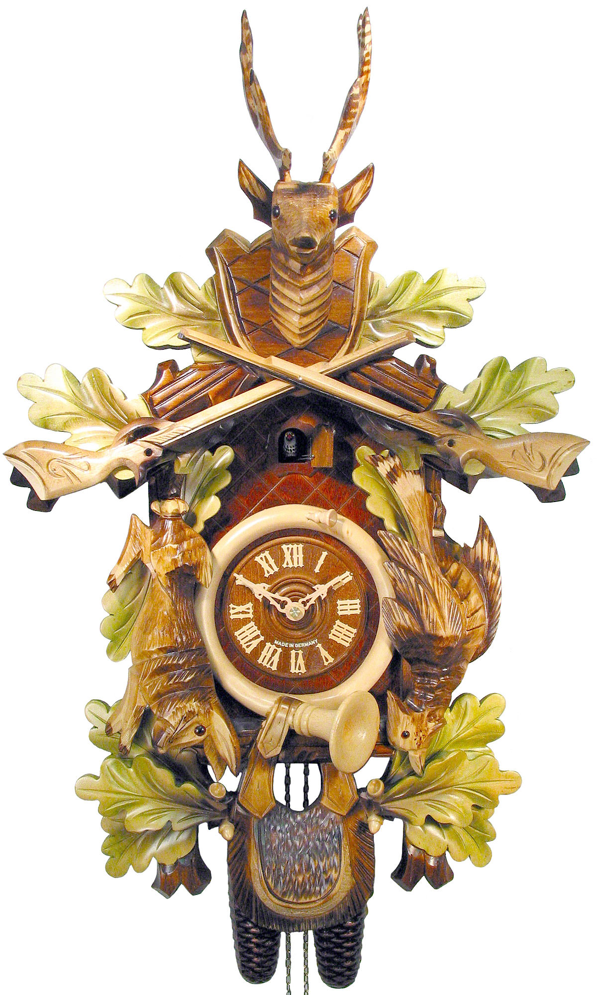 Cuckoo Clock 8 Day Movement Carved Style 59cm By August