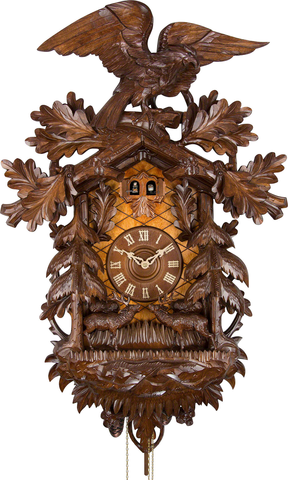 Cuckoo Clock 8 Day Movement Carved Style 90cm By Rombach