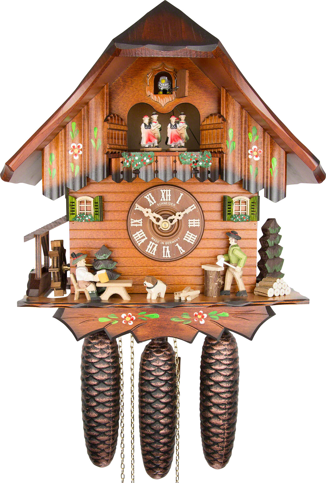 Cuckoo clock 8 day movement chalet style 32cm by anton How to make a cuckoo clock