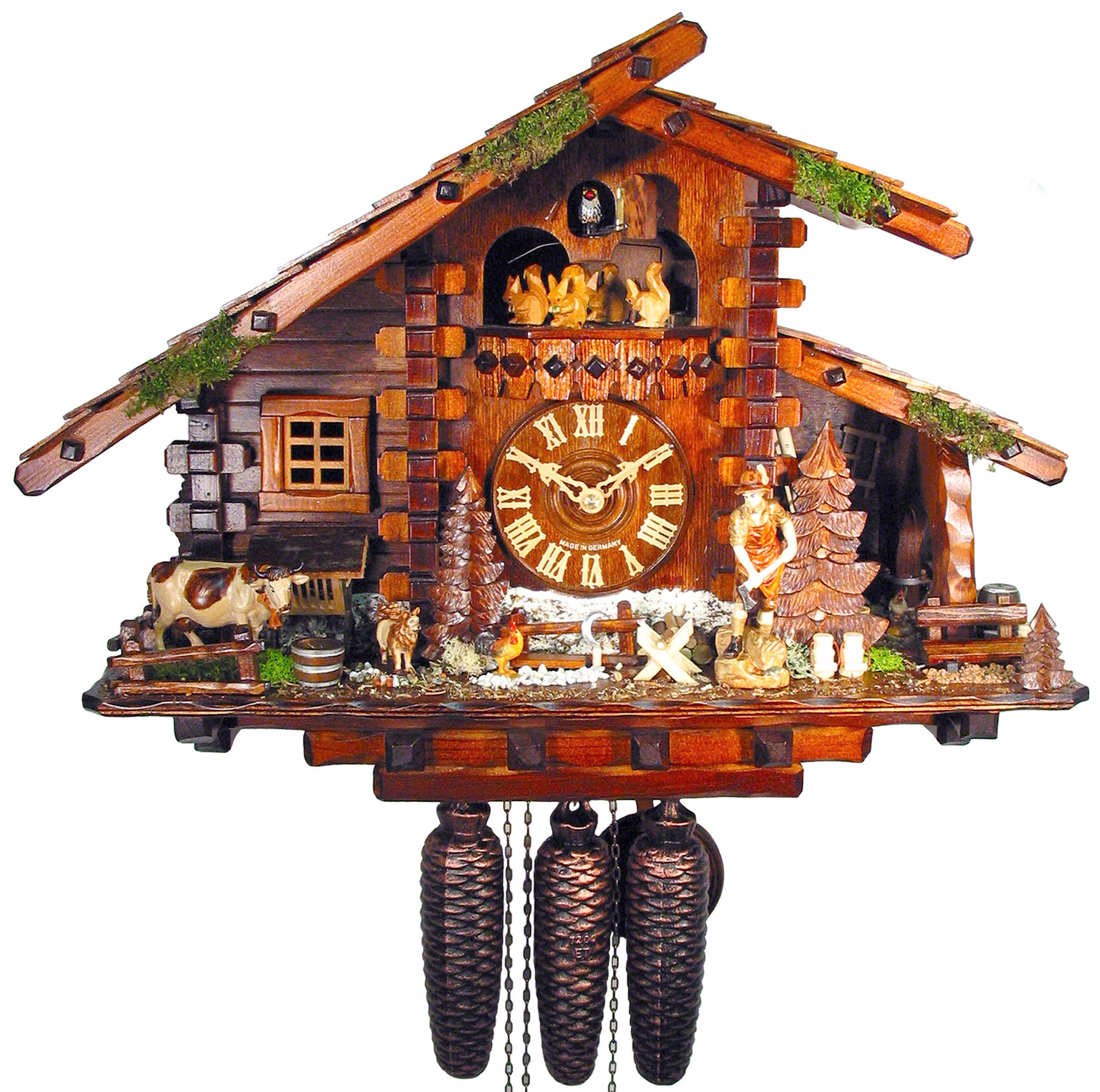 Cuckoo clock 8 day movement chalet style 36cm by august How to make a cuckoo clock