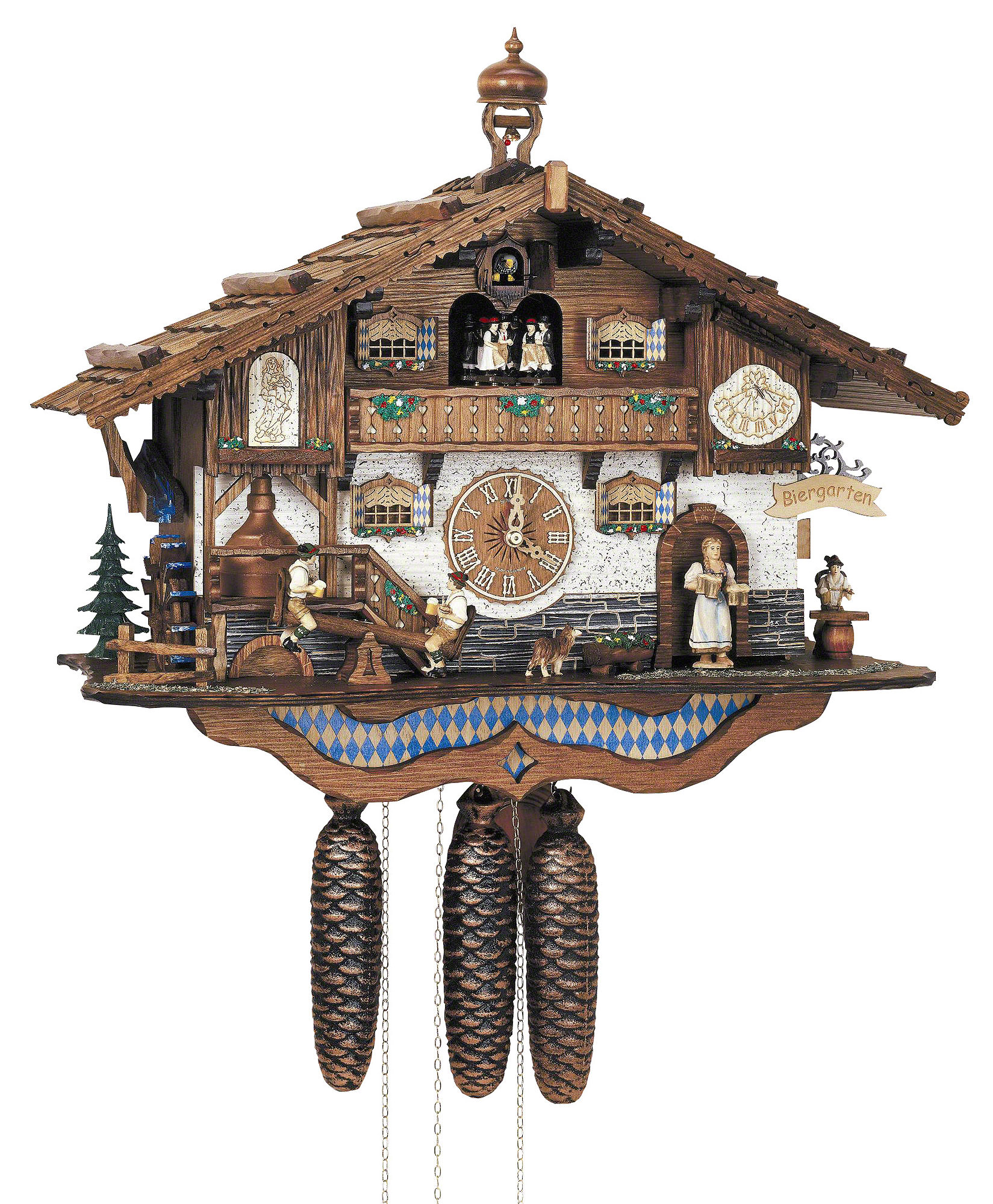 Cuckoo clock 8 day movement chalet style 44cm by anton How to make a cuckoo clock