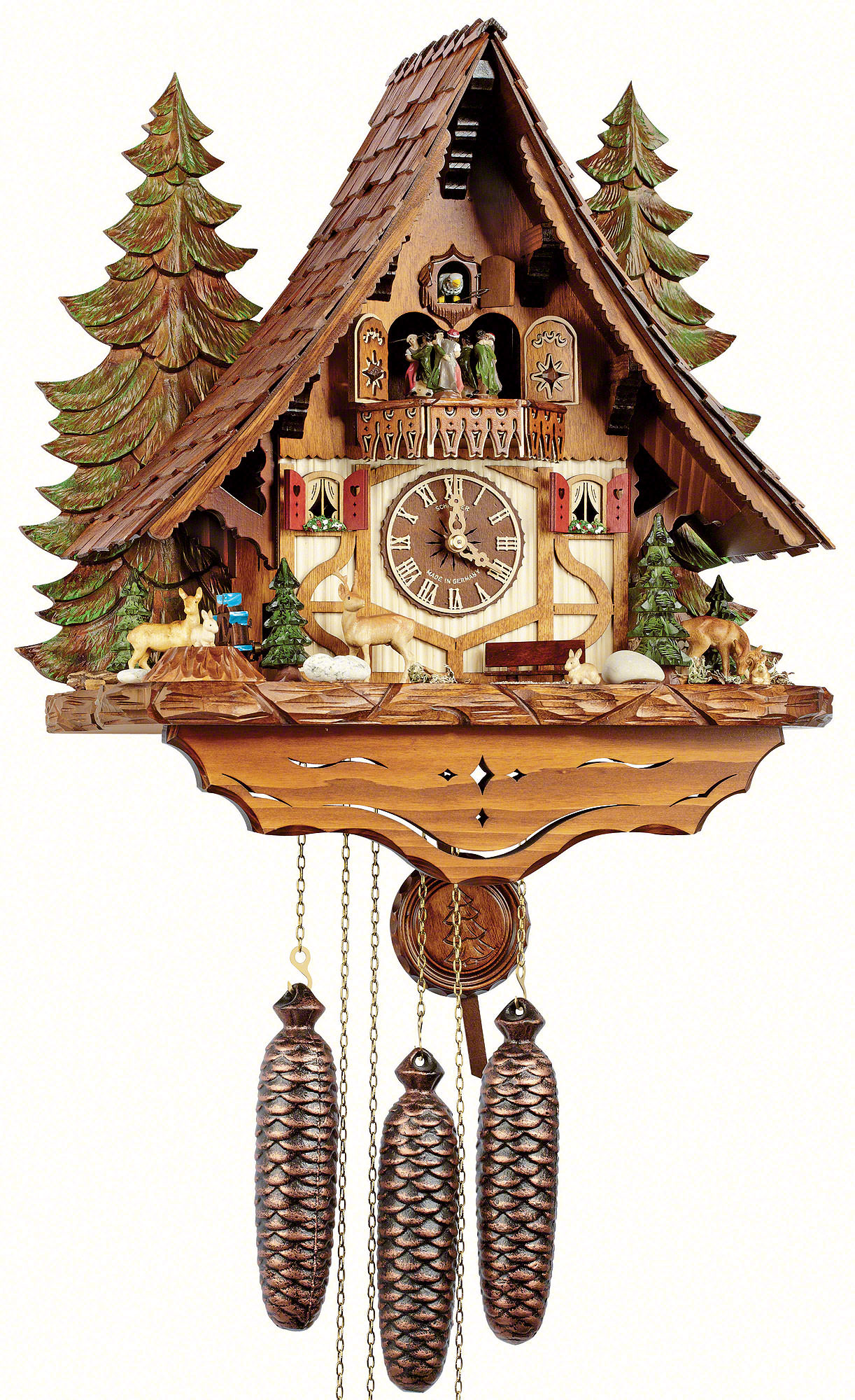 Cuckoo clock 8 day movement chalet style 45cm by anton How to make a cuckoo clock
