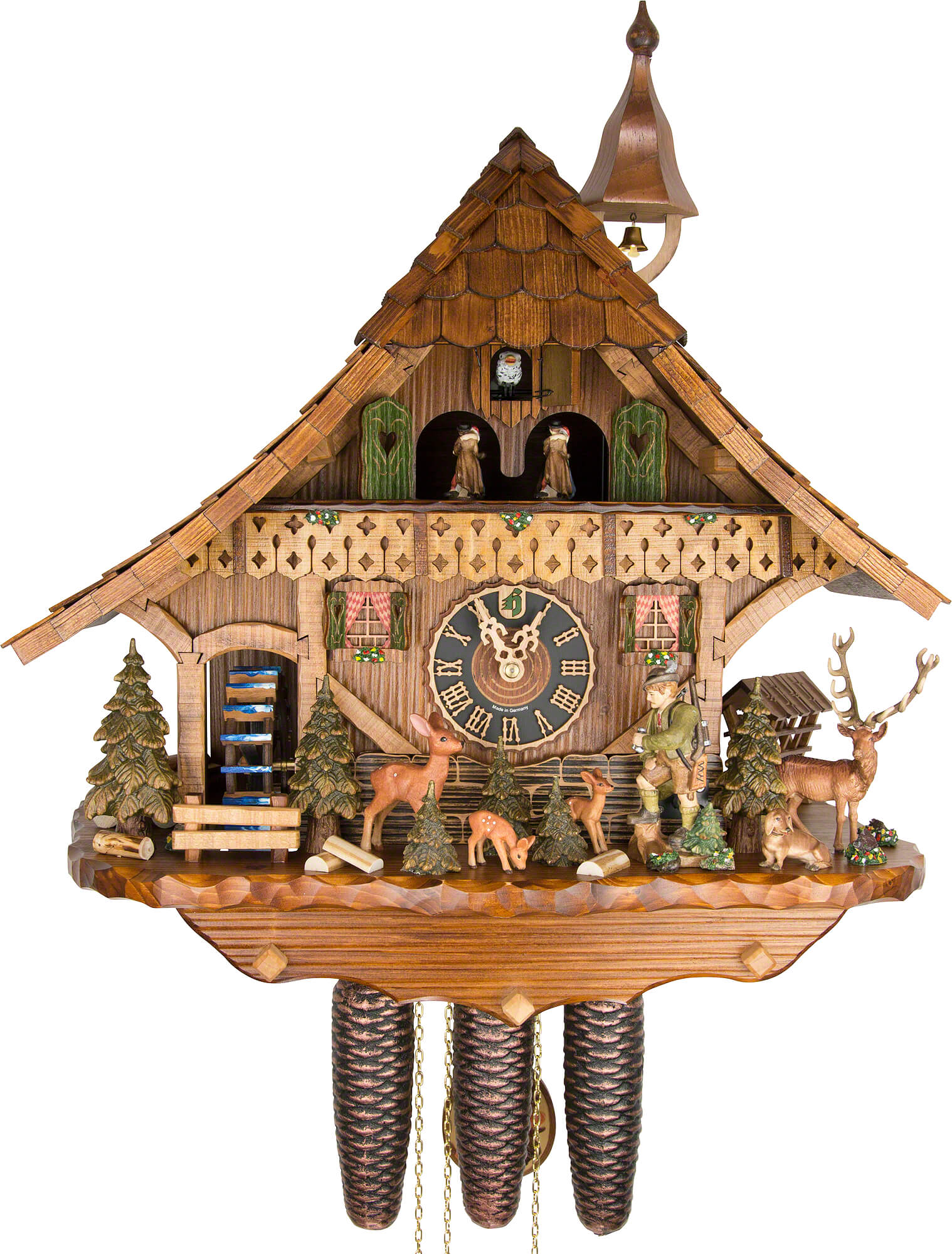 Cuckoo Clock 8 Day Movement Chalet Style 54cm By H Nes