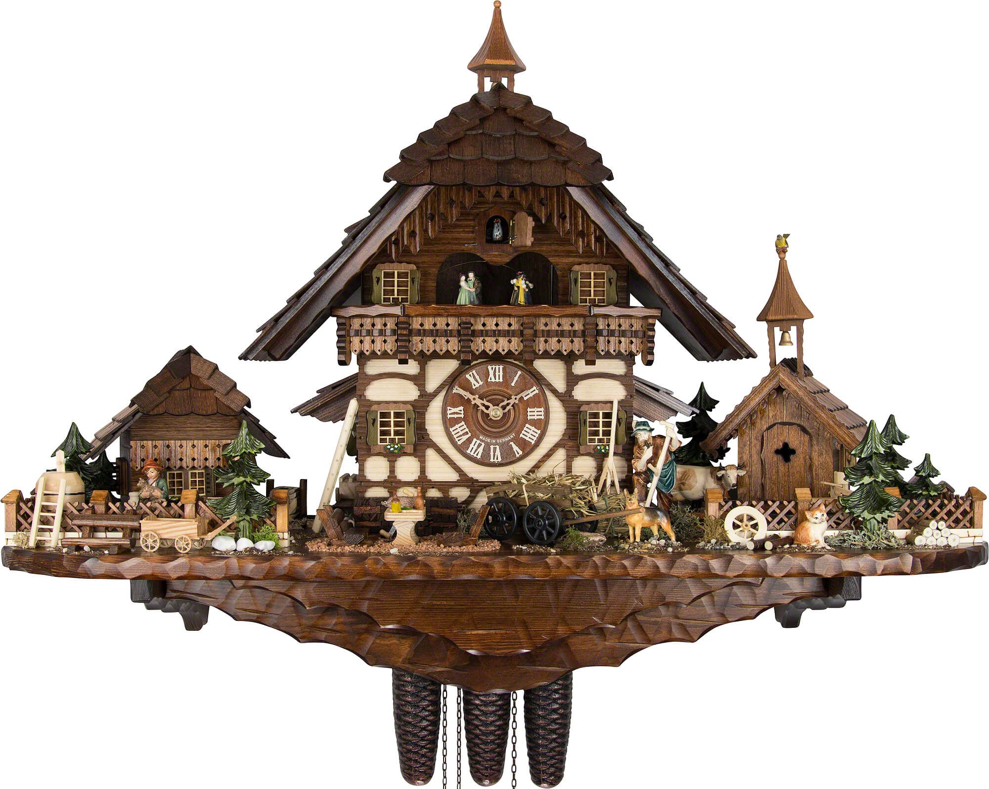 Cuckoo Clock 8-day-movement Chalet-Style 55cm by August ...