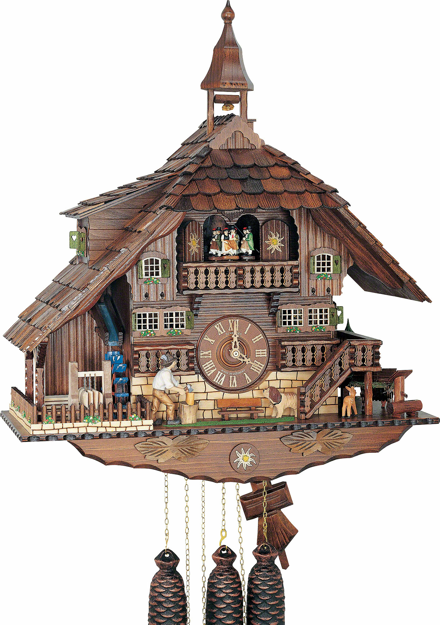 Cuckoo clock 8 day movement chalet style 58cm by anton How to make a cuckoo clock