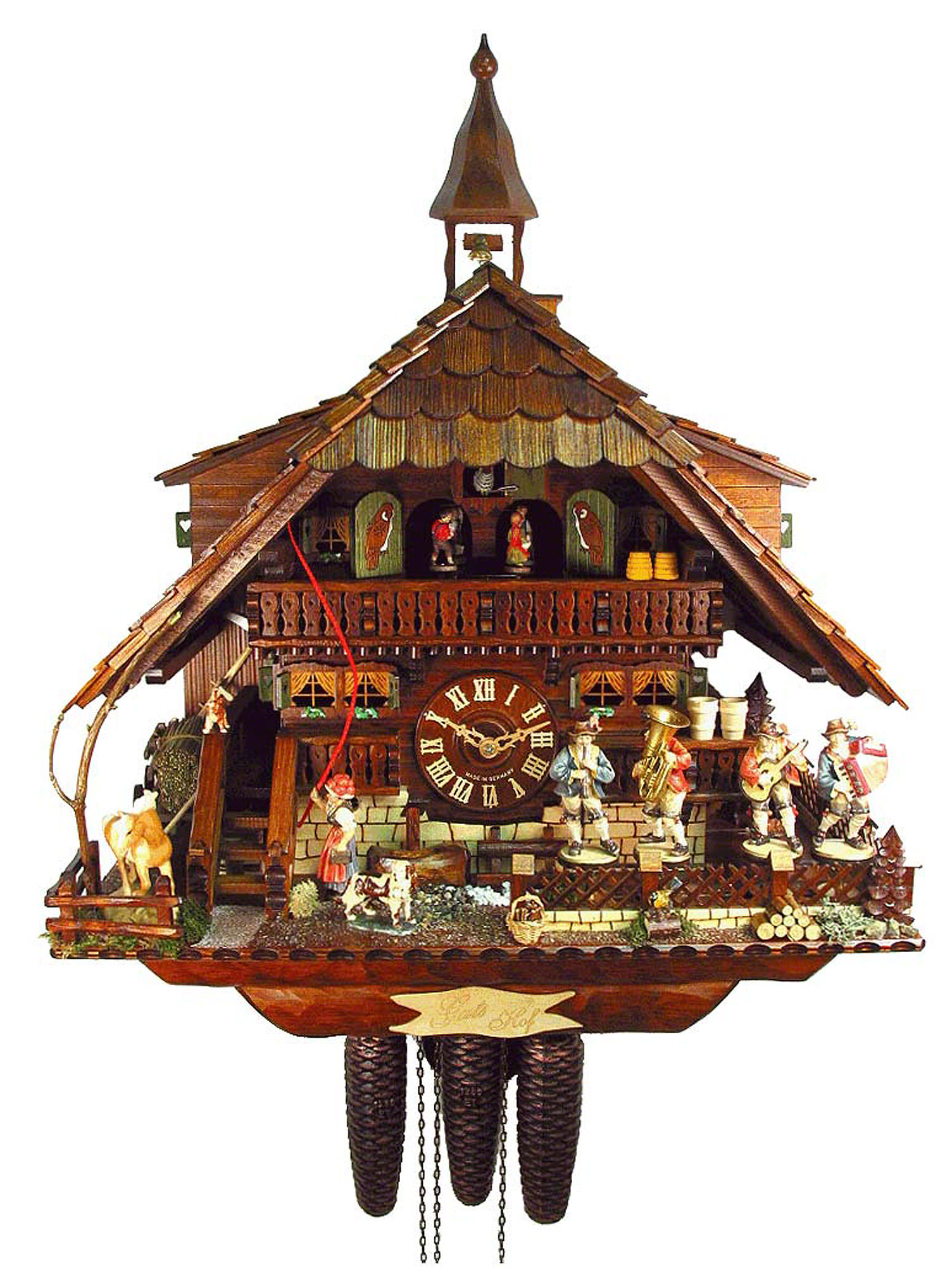Cuckoo Clock 8-day-movement Chalet-Style 58cm by August Schwer - 5.8875.01.P