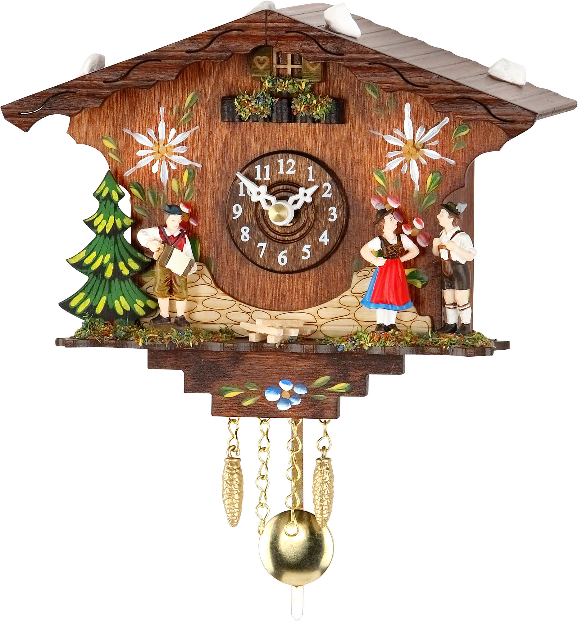 Cuckoo clock kuckulino quartz movement black forest pendulum clock style 13cm by trenkle uhren - Cuckoo clock pendulum ...