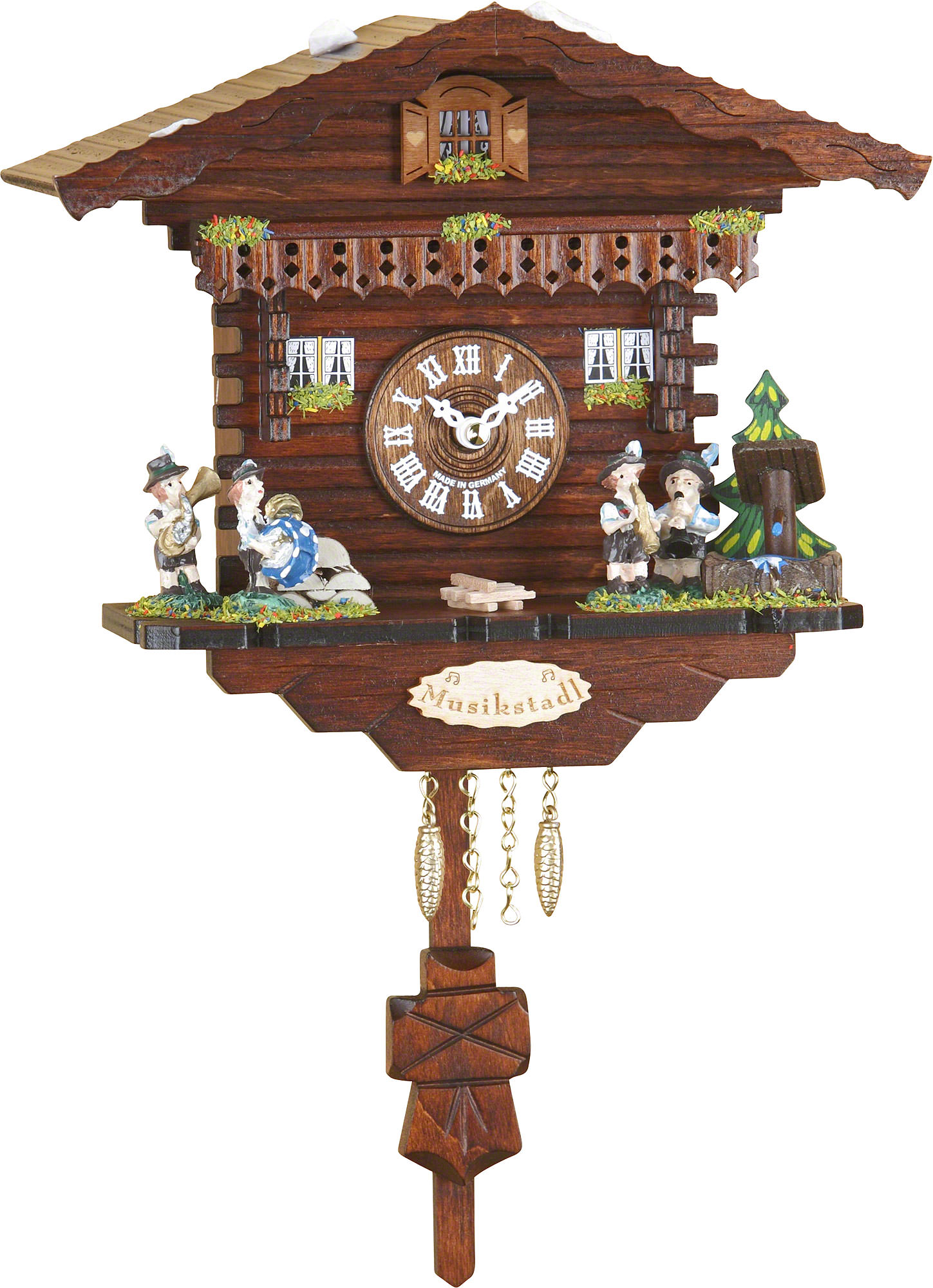 Cuckoo clock kuckulino quartz movement black forest pendulum clock style 17cm by trenkle uhren - Cuckoo clock pendulum ...
