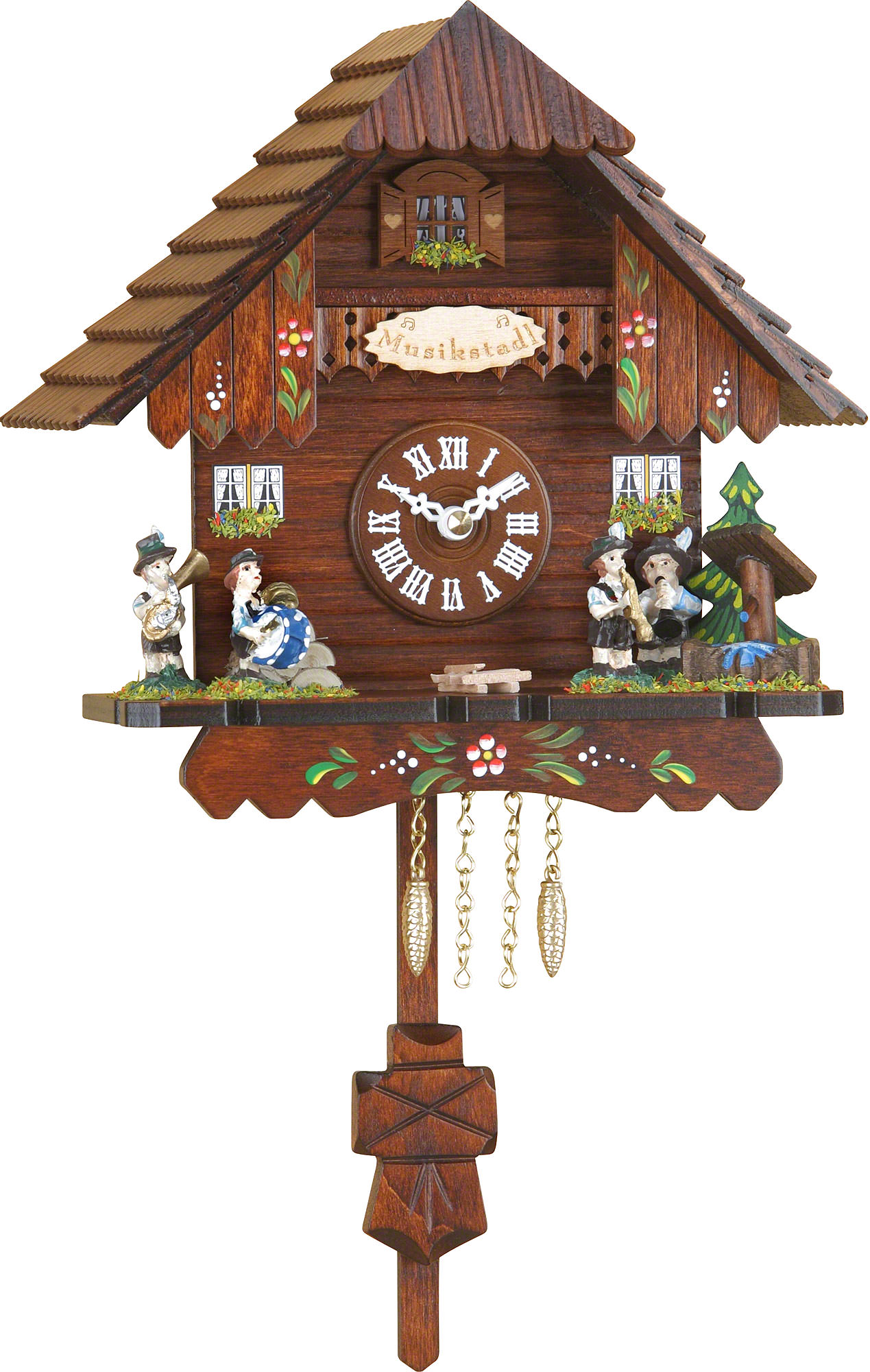 Cuckoo clock kuckulino quartz movement black forest pendulum clock style 18cm by trenkle uhren - Cuckoo clock pendulum ...