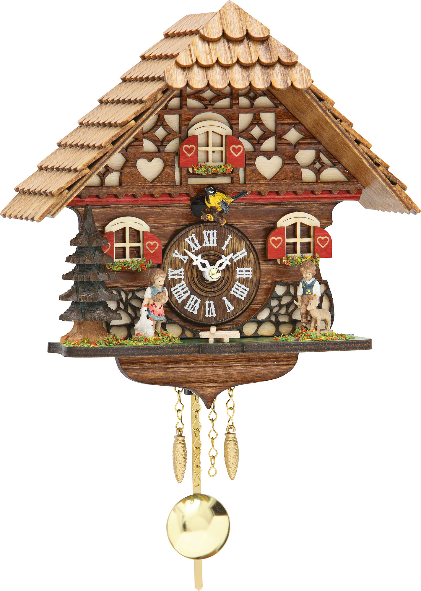 Cuckoo clock kuckulino quartz movement black forest pendulum clock style 19cm by trenkle uhren - Cuckoo clock pendulum ...