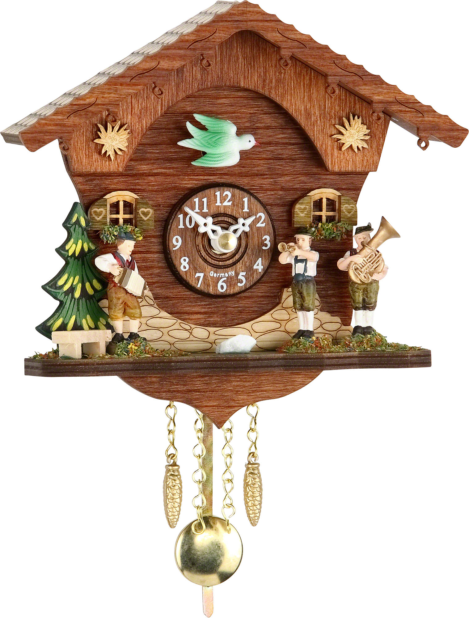 Cuckoo clock quartz movement black forest pendulum clock style 15cm by trenkle uhren 2045pq - Cuckoo clock pendulum ...