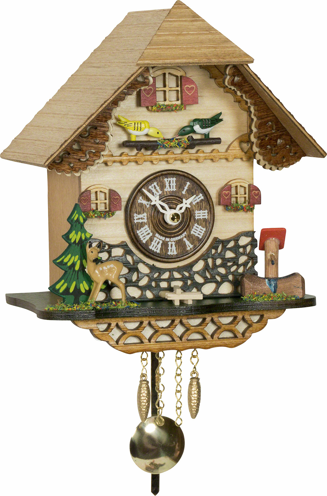 Cuckoo clock quartz movement black forest pendulum clock style 18cm by trenkle uhren 0342059pq - Cuckoo clock pendulum ...