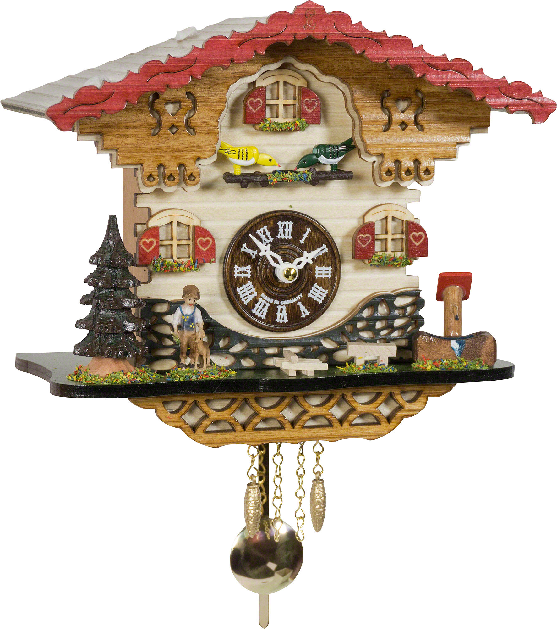 Cuckoo clock quartz movement black forest pendulum clock style 20cm by trenkle uhren 2058 pq - Cuckoo clock pendulum ...