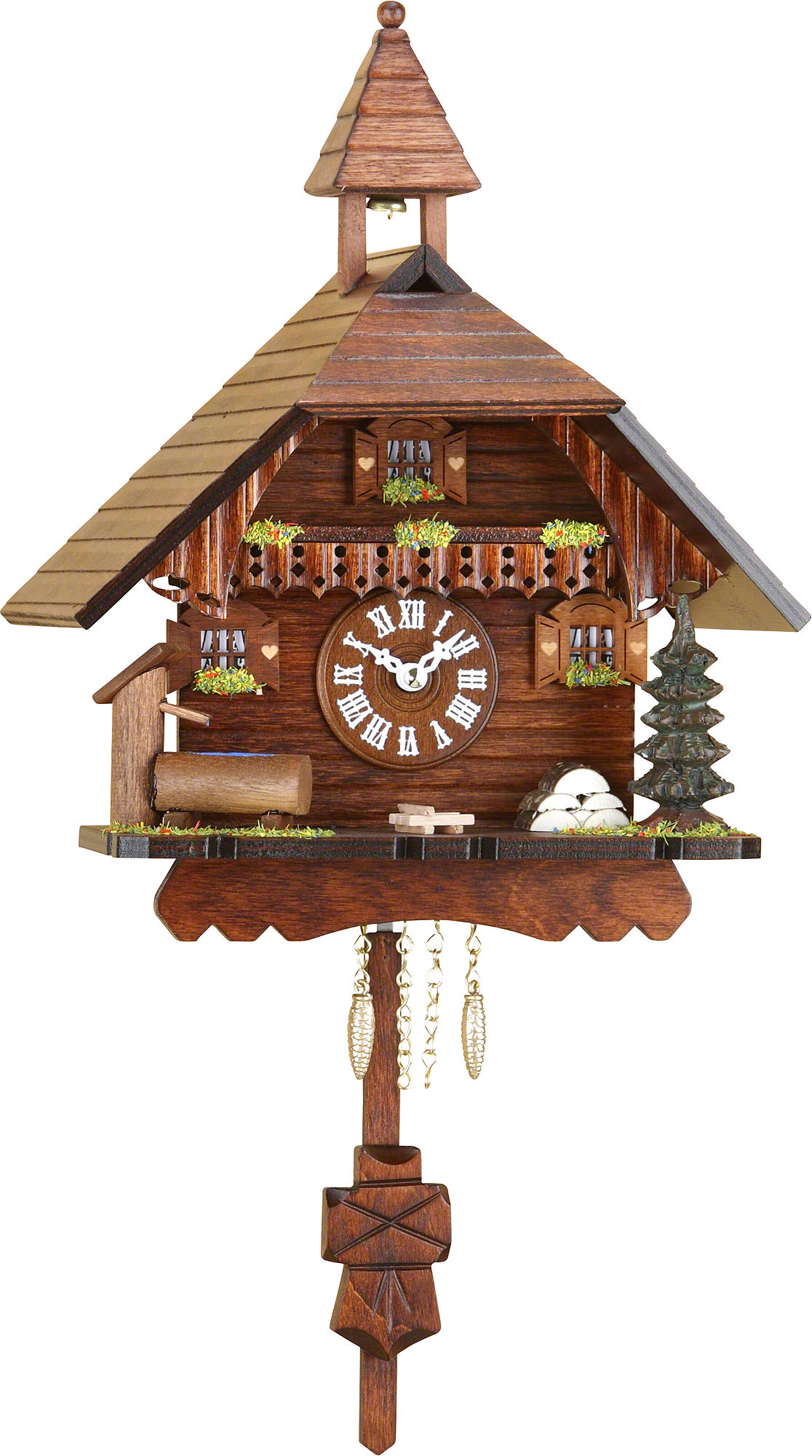 Cuckoo clock quartz movement black forest pendulum clock style 24cm by trenkle uhren 2034pq - Cuckoo clock pendulum ...