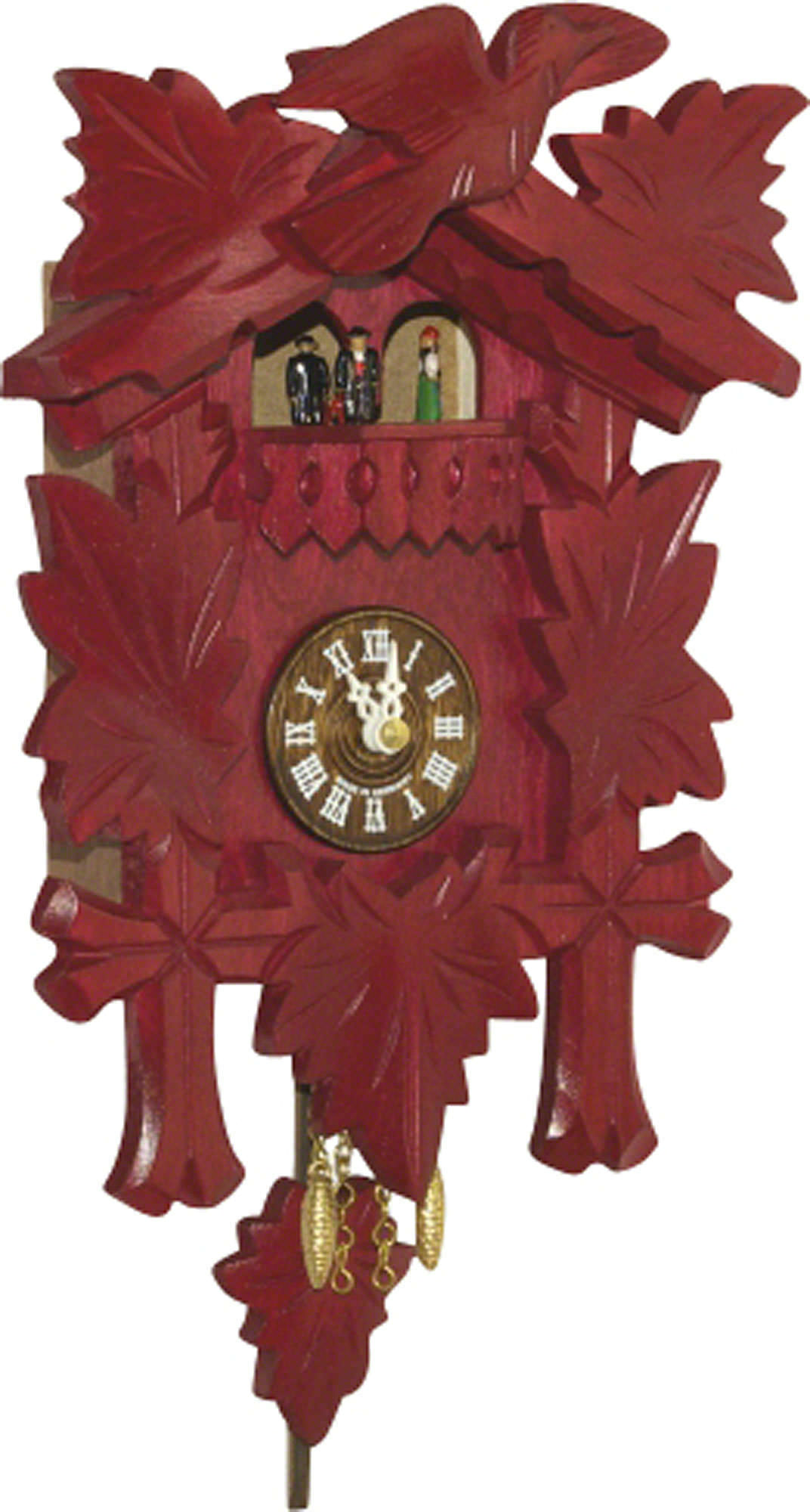 Cuckoo clock quartz movement black forest pendulum clock style 24cm by trenkle uhren 2018 pq rot - Cuckoo clock pendulum ...