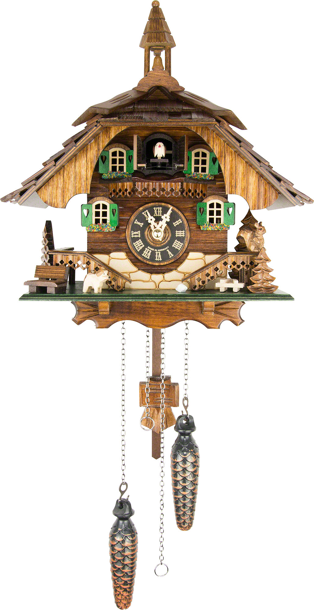 Cuckoo clock quartz movement chalet style 31cm by engstler How to make a cuckoo clock