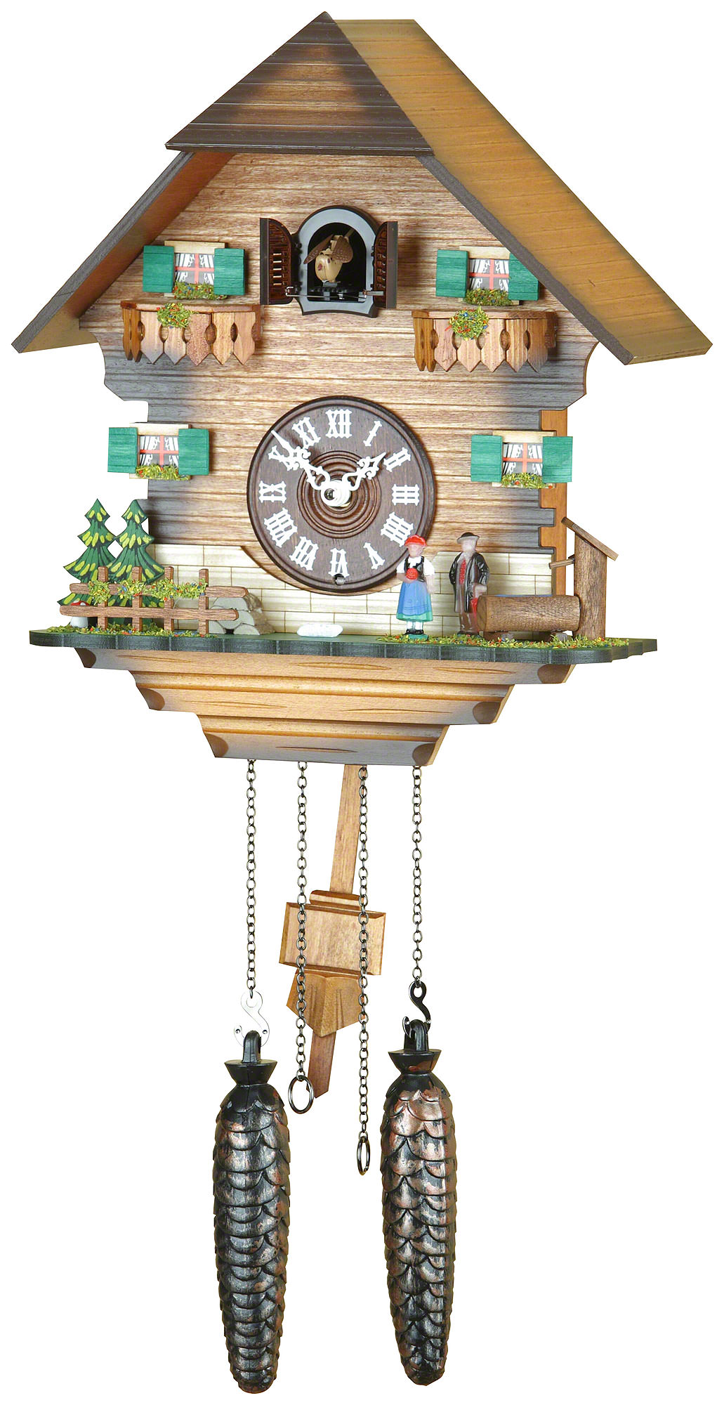 Cuckoo clock quartz movement chalet style 31cm by trenkle How to make a cuckoo clock