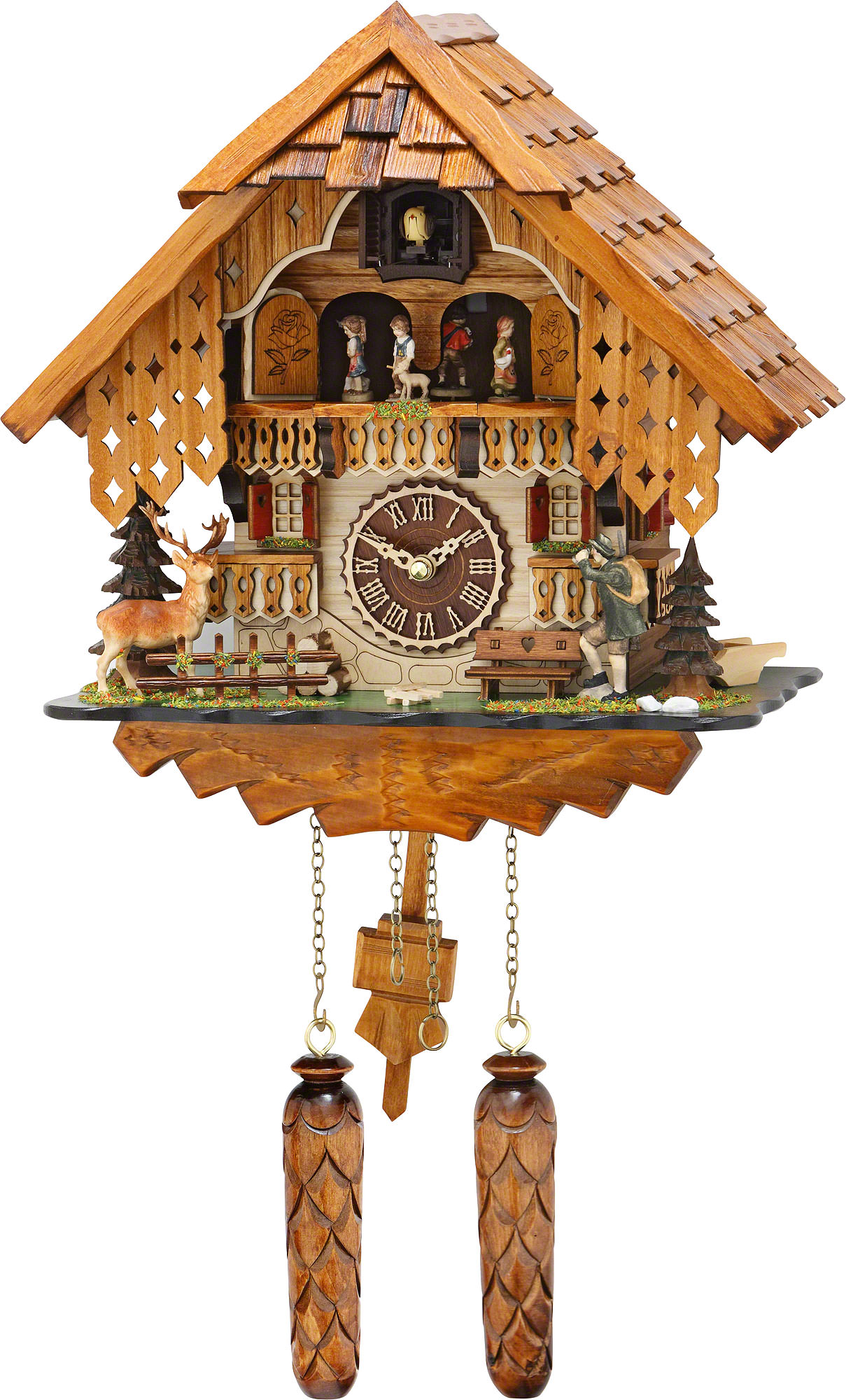 Cuckoo clock quartz movement chalet style 32cm by trenkle How to make a cuckoo clock