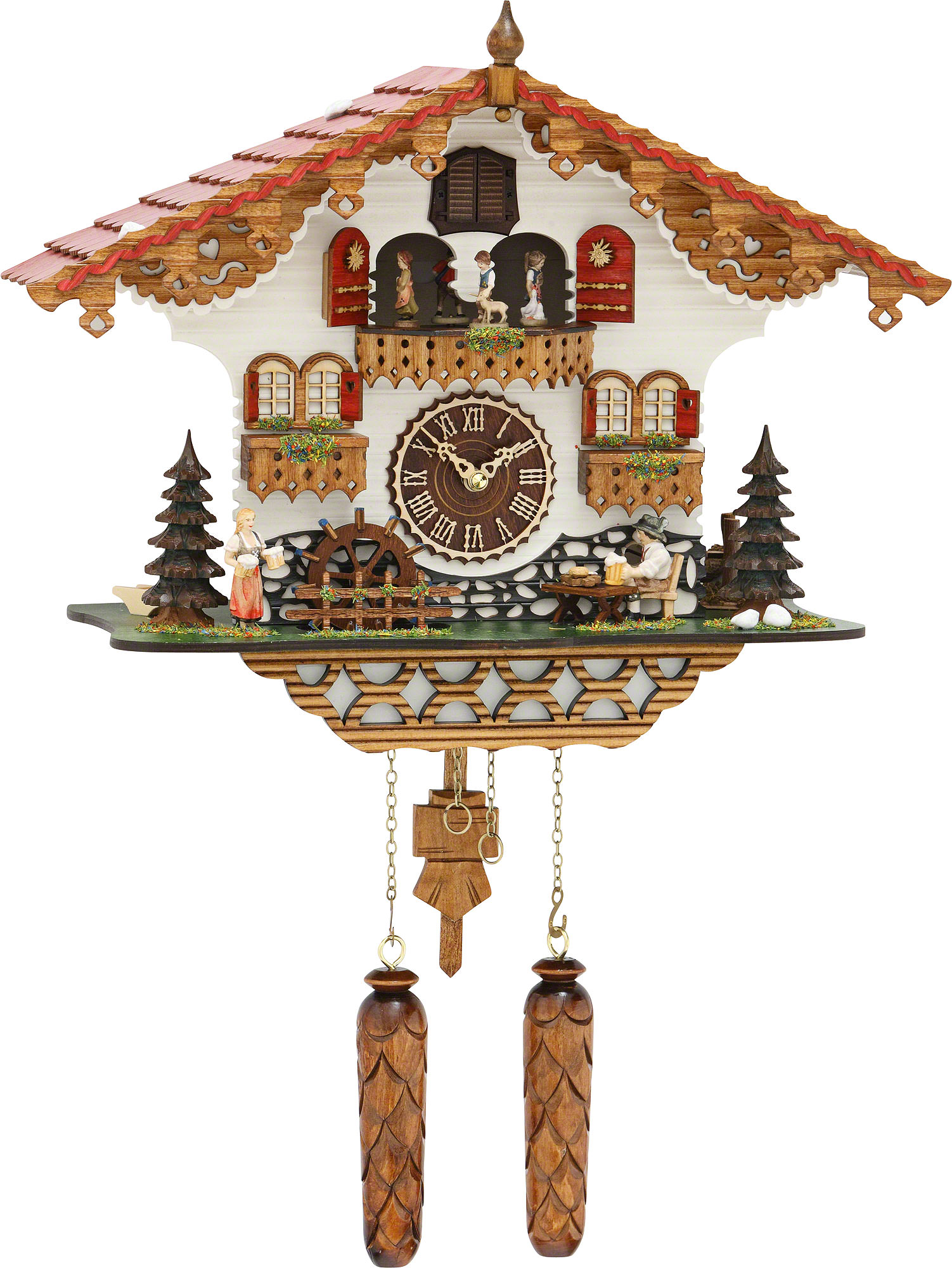 Cuckoo Clock Quartz Movement Chalet Style 35cm By Trenkle: how to make a cuckoo clock