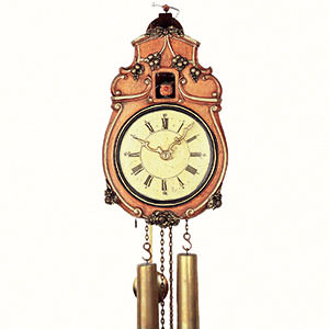 Antique Black Forest Clocks Antique replica clock 8-day-movement 33cm by Rombach & Haas