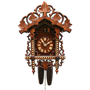 Antique Black Forest Clocks Antique replica clock 8-day-movement 43cm by Rombach & Haas