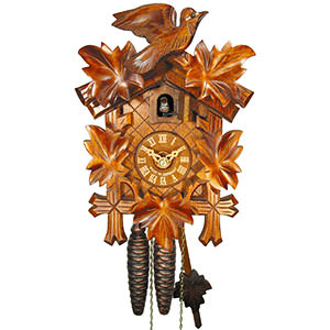 Carved Cuckoo Clocks Cuckoo Clock 1-day-movement Carved-Style 23cm by August Schwer