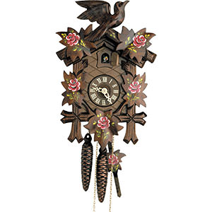 Carved Cuckoo Clocks Cuckoo Clock 1-day-movement Carved-Style 23cm by Hekas