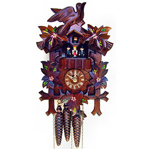 Carved Cuckoo Clocks Cuckoo Clock 1-day-movement Carved-Style 33cm by Anton Schneider