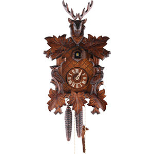 Carved Cuckoo Clocks Cuckoo Clock 1-day-movement Carved-Style 36cm by Anton Schneider
