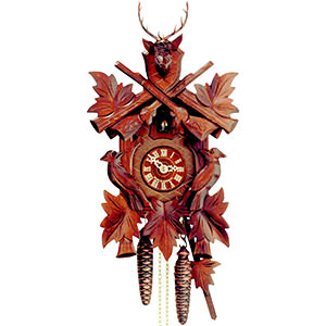 Carved Cuckoo Clocks Cuckoo Clock 1-day-movement Carved-Style 50cm by Hekas
