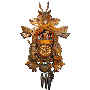 Carved Cuckoo Clocks Cuckoo Clock 1-day-movement Carved-Style 53cm by August Schwer