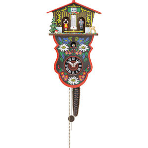 Black Forest Souvenir Clocks & Weather Houses Cuckoo Clock 1-day-movement Chain-pull-Style 28cm by Trenkle Uhren