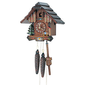 Chalet Cuckoo Clocks Cuckoo Clock 1-day-movement Chalet-Style 20cm by Anton Schneider