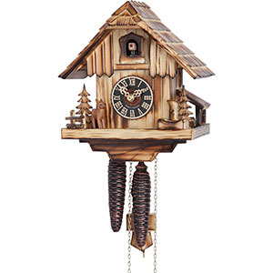 Chalet Cuckoo Clocks Cuckoo Clock 1-day-movement Chalet-Style 20cm by Hönes