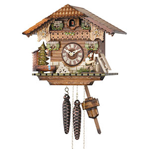 Chalet Cuckoo Clocks Cuckoo Clock 1-day-movement Chalet-Style 24cm by Hekas