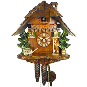 Chalet Cuckoo Clocks Cuckoo Clock 1-day-movement Chalet-Style 25cm by August Schwer