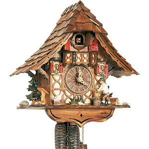 Chalet Cuckoo Clocks Cuckoo Clock 1-day-movement Chalet-Style 27cm by Anton Schneider