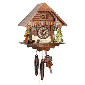 Chalet Cuckoo Clocks Cuckoo Clock 1-day-movement Chalet-Style 27cm by Hekas