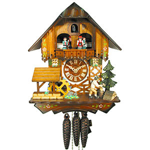 Chalet Cuckoo Clocks Cuckoo Clock 1-day-movement Chalet-Style 30cm by August Schwer
